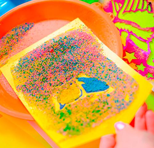 Рисование цветным песком (мастер класс)